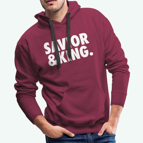 SAVIOR AND KING - Men's Premium Hoodie