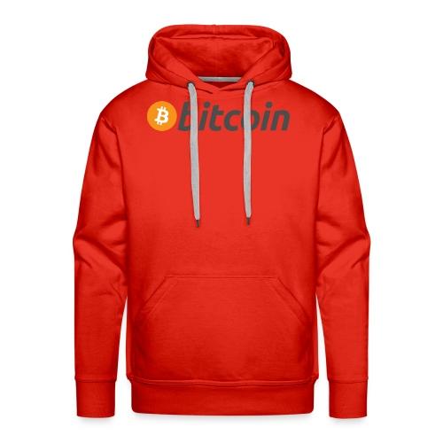 Bitcoin Logo Wear - Men's Premium Hoodie