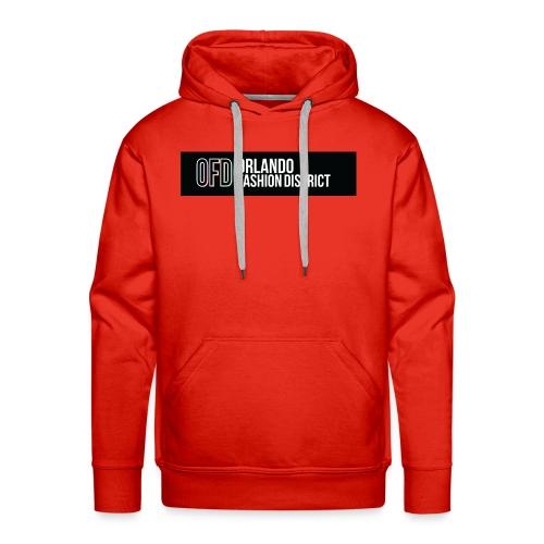 OFD Long Logo White Text - Men's Premium Hoodie