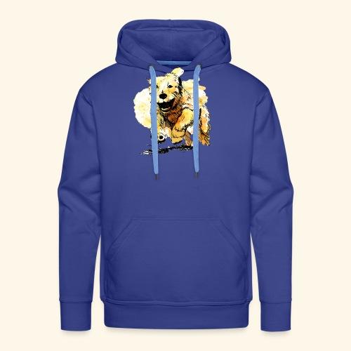 oil dog - Men's Premium Hoodie