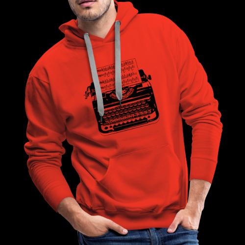 Music Type | Vintage Typewriter - Men's Premium Hoodie