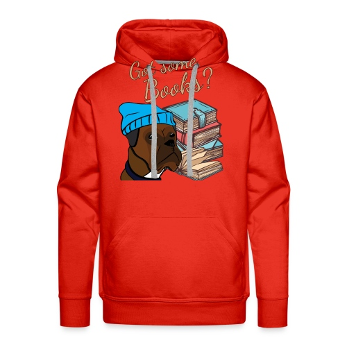 Funny boxer and book lover tshirt - Men's Premium Hoodie