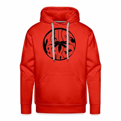 tWicEbakED logo, black circle - Men's Premium Hoodie
