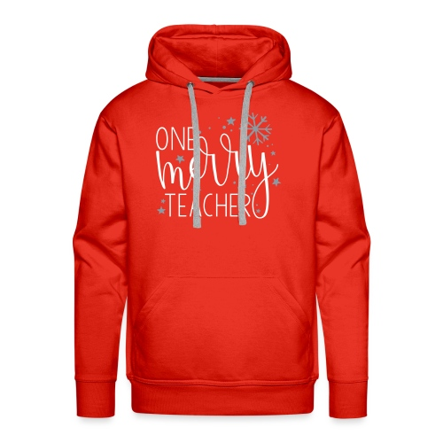 One Merry Teacher Christmas Teacher T-Shirt - Men's Premium Hoodie