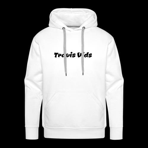 White shirt - Men's Premium Hoodie