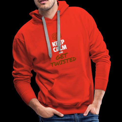 Keep Calm and Get Twisted Pretzel - Men's Premium Hoodie
