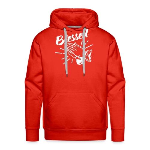 Blessed - Alt. Design (White Letters) - Men's Premium Hoodie