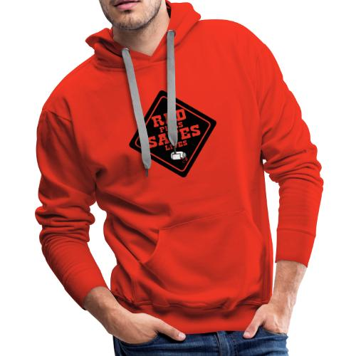 Red Pills Saves Lives Black - Men's Premium Hoodie
