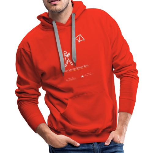 Life's better without wires: Kite - SELF - Men's Premium Hoodie