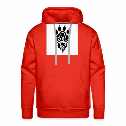 Black Leo Zodiac Sign - Men's Premium Hoodie