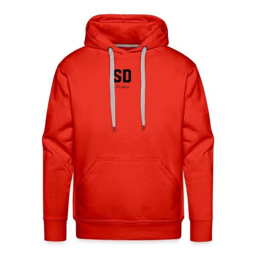 SD Designs blue, white, red/black merch - Men's Premium Hoodie
