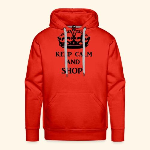keep calm shop blk - Men's Premium Hoodie