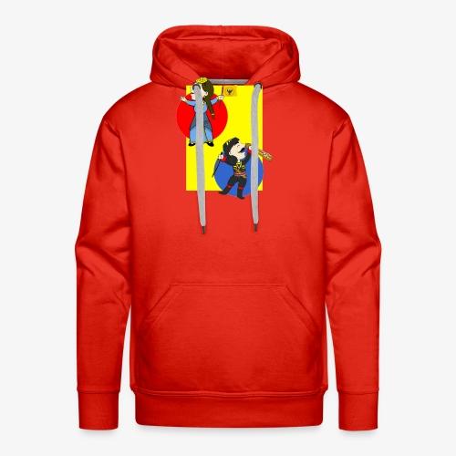 Cartoon - Pontios/lyra & Pontia/flag - Men's Premium Hoodie