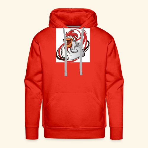 cartoon chicken with a thumbs up 1514989 - Men's Premium Hoodie