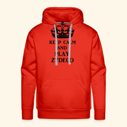 keep calm play zydeco blk - Men's Premium Hoodie