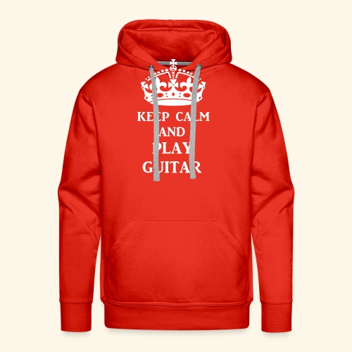 keep calm play guitar wht - Men's Premium Hoodie