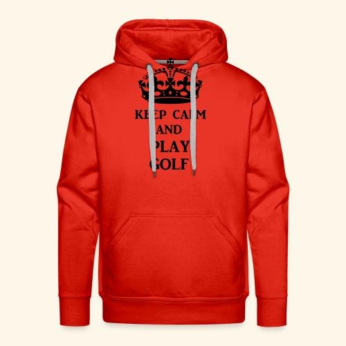 keep calm play golf blk - Men's Premium Hoodie