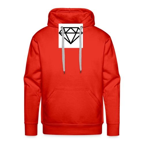 diamond outline 318 36534 - Men's Premium Hoodie