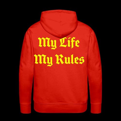 My Life My Rules - Men's Premium Hoodie
