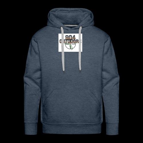 White Logo Shirts - Men's Premium Hoodie