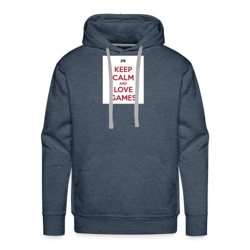 keep calm and love games - Men's Premium Hoodie
