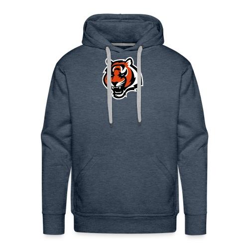 nfl logo black orange Logo - Men's Premium Hoodie