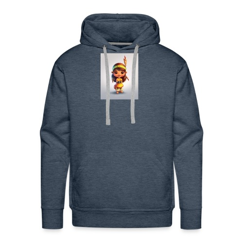 indian girl shirt - Men's Premium Hoodie
