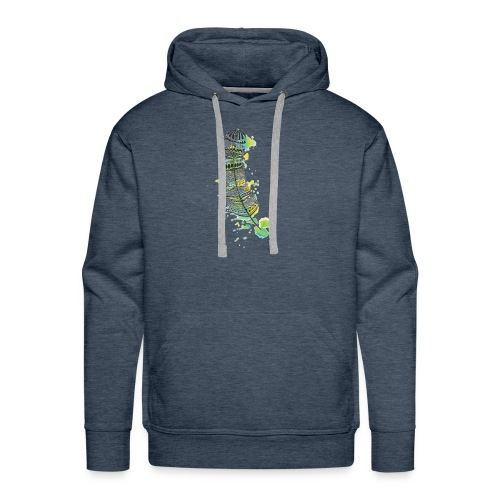 Geometric Feather - Men's Premium Hoodie
