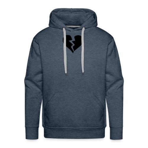 Black Broken Heart - Men's Premium Hoodie