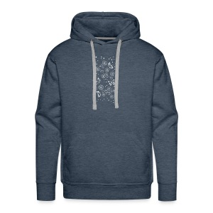 Floral and Butterflys_white - Men's Premium Hoodie