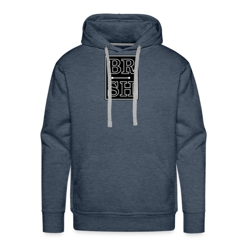 Initial BRSH Marquee Logo - Men's Premium Hoodie