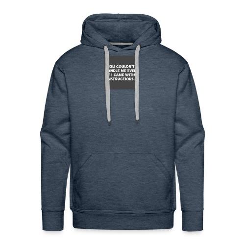 short funny quotes - Men's Premium Hoodie