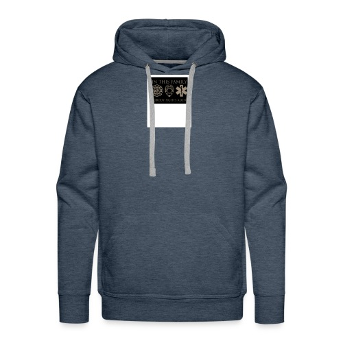 in this family nobody fights alone merchandise - Men's Premium Hoodie