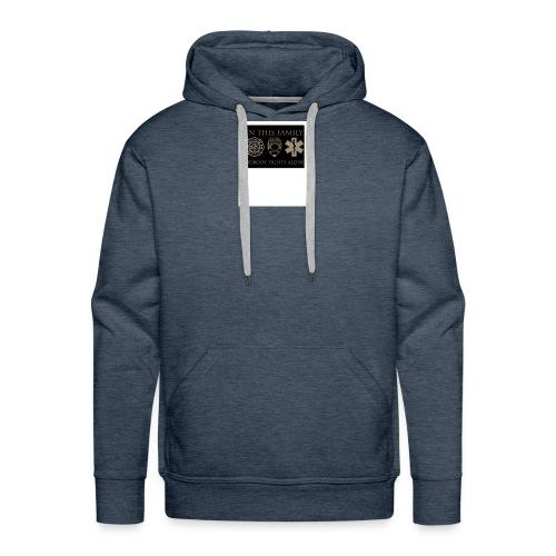 in this family nobody fights alone merchandise - Men's Premium Hoodie