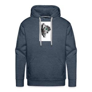 dj d3mon king wolfmutt logo - Men's Premium Hoodie