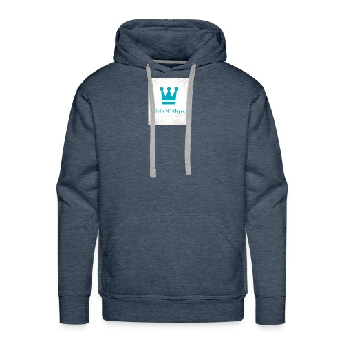 Back Ground Sparks on Blue Classic - Men's Premium Hoodie