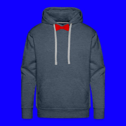 red bow tie - Men's Premium Hoodie