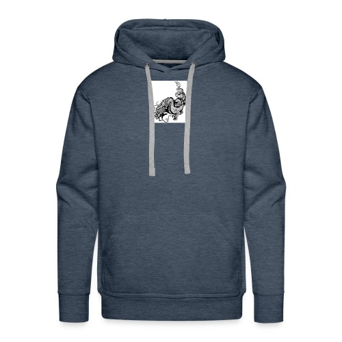 24019358 dragon black and white illustration - Men's Premium Hoodie