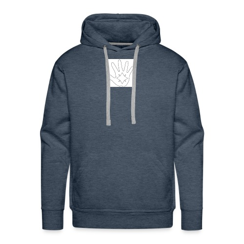Hand and Star in Black and White - Men's Premium Hoodie