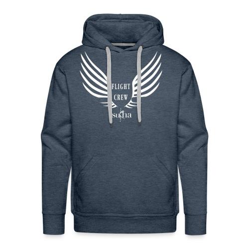 flight crew logo white - Men's Premium Hoodie