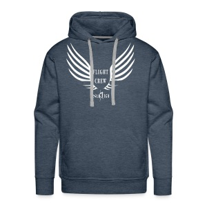 flight crew logo white - Men's Premium Hoodie