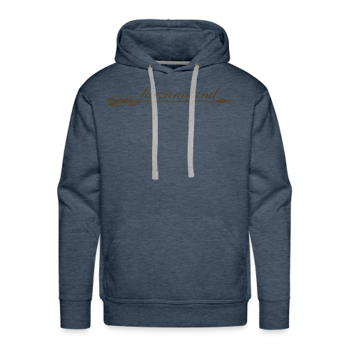 tarzanaland logo custom brown design - Men's Premium Hoodie