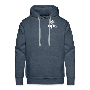 Hoodie with small white OPA logo - Men's Premium Hoodie