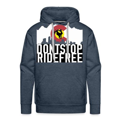Dont Stop RideFree Colorado (J&L) - Men's Premium Hoodie
