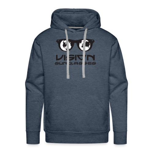Vision Sunglasses White/Black - Men's Premium Hoodie