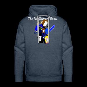 THE SKYGAMERS CREW HOODIE NEON BLUE - Men's Premium Hoodie