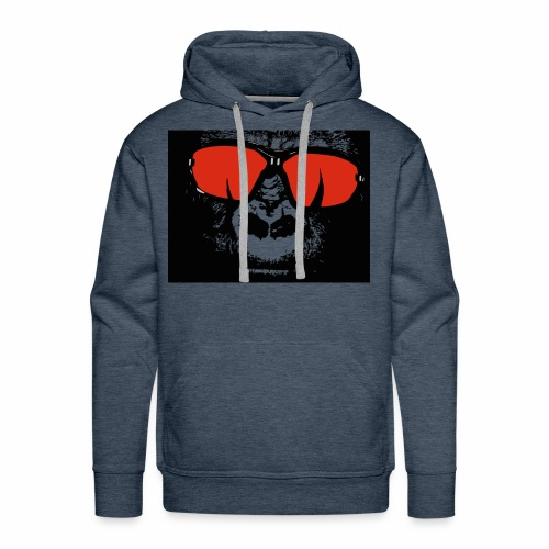 gorilla with shades - Men's Premium Hoodie