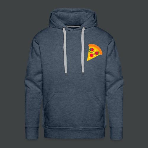 Cartoony Pizza Logo - Men's Premium Hoodie