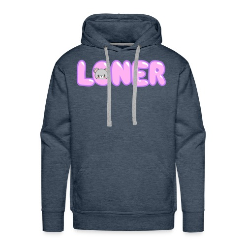 Kawaii Bear Loner Design - Men's Premium Hoodie