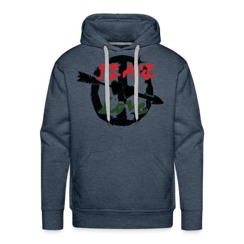 Peace and love t-shirt - Men's Premium Hoodie